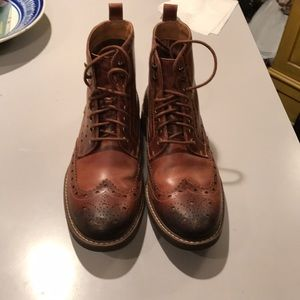 Clarks Lord Montacute wingtip boots size 8 mens